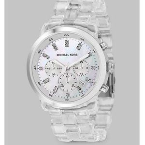Michael Kors Clear Chronograph Bracelet Watch